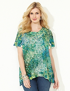 Seaside Paisley Top