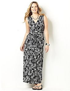 Terrace Cinched Maxi by CATHERINES