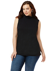 Suprema Sleeveless Turtleneck