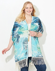 Palmetto Fringe Kimono