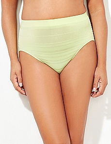 Seamless Shadow Stripe Hi-Cut Brief