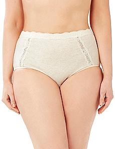 Lace Cotton Full Brief