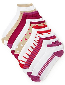 10-Pack Striped Ankle Socks