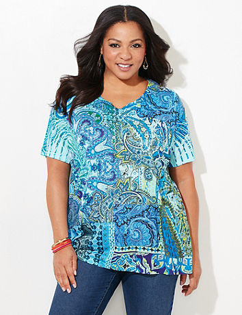 Pacific Paisley Top Catherines