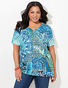 Pacific Paisley Top