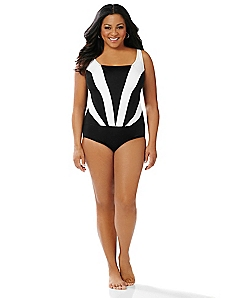 Colorblock Cascade Swimsuit