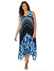 Black Label Chevron Maxi Dress