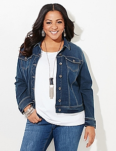 Flare Finesse Denim Jacket