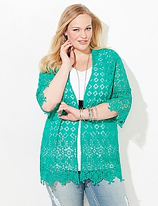 Pebbled Shores Eyelet Jacket