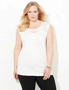 AnyWear Diamond Lace Tank