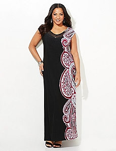 Paisley Accent Maxi