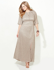 Metallic Glamour Gown