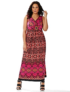 Tribal Medallion Maxi Dress