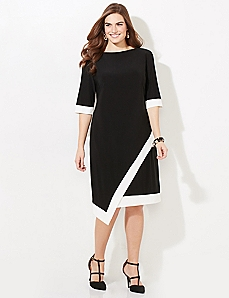 Contrast Shift Dress