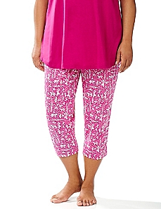 Wild Side Slim Leg Sleep Capri