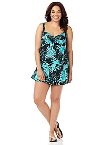 Midnight Palms Swimdress