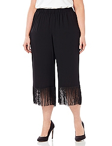 Black Label Fringe Crop Pant