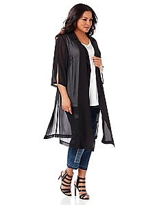Black Label Elegant Evening Duster