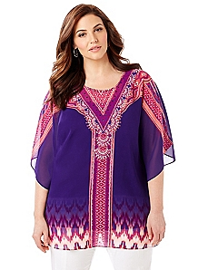 Black Label Exotic Sunset Poncho