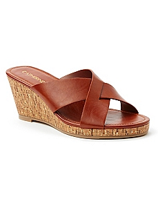 Crisscross Good Soles Wedge Sandal