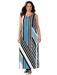 Stunning Stripes Maxi Dress