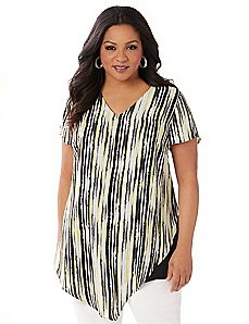 Black Label Soft Stripes Top