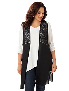 Larkspur Long Vest