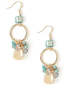 Circle Cluster Earrings