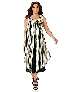 Black Label Soft Stripes Dress