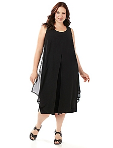 Black Label Chiffon Overlay Dress