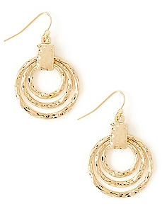 Triplet Texture Earrings