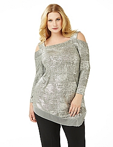 Metallic Shimmer Top
