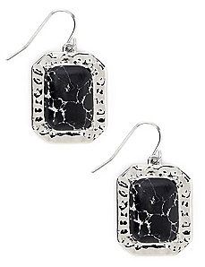 Textured Squares Earrings