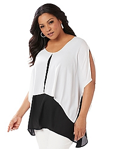 Black Label Flyaway Layered Top