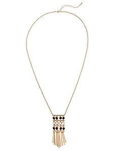 Faceted Fringe Necklace