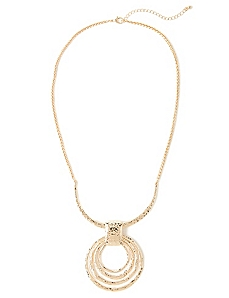 Circle Rosy Outlook Necklace