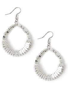 Beaded Metallic Hoops