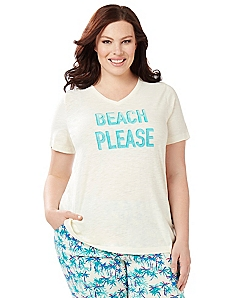Beach Please Sleep Tee