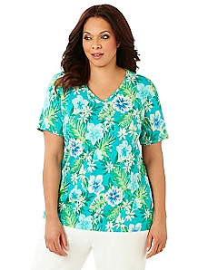 Tropical Hibiscus Tee