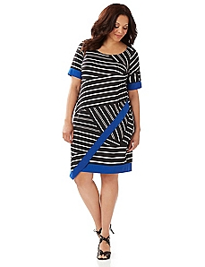 Striped Contrast Shift Dress