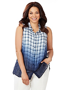 Plaid Ombre Shirt