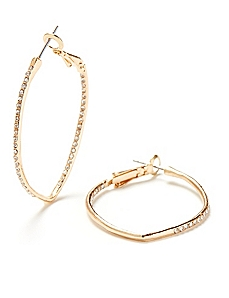 Pointed Hoop Earrings