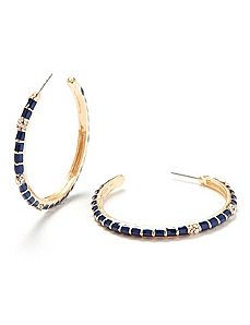Rhinestone Accent Hoops
