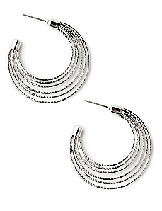 Graduated Hoop Earrings