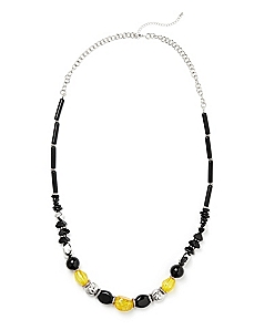 Beaded Contrast Necklace