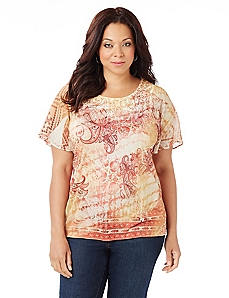 Paisley Scroll Top