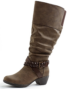 Braided Slouch Boot