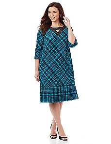 Downtown Plaid Midi