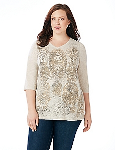 Batik Medallion Top