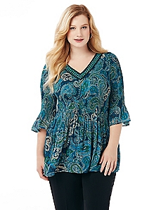 Pop Of Paisley Blouse